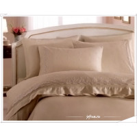 Свадебное постельное белье Gelin Home Eda (бежевое) евро