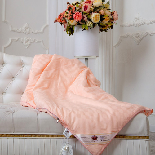 Одеяло Kingsilk Elisabette Элит персиковое (всесезонное)