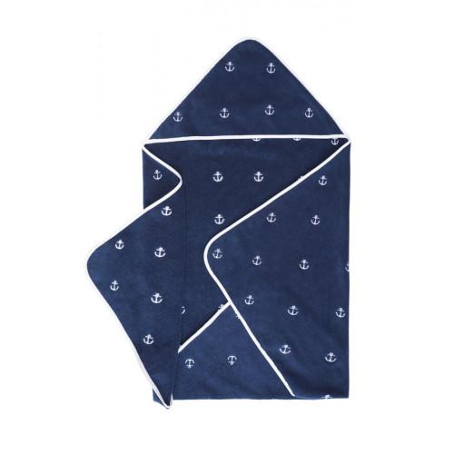 Полотенце-конверт Soft Cotton Marine Kids (синий)