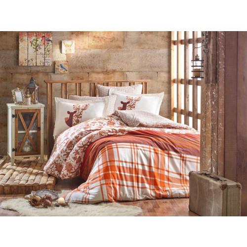 Постельное белье Hobby Home фланель Valentina (коричневый)