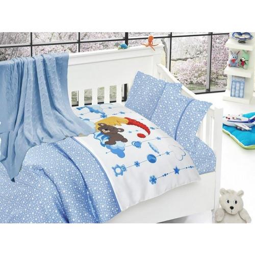 Детское белье + плед First Choice Sleeper mavi