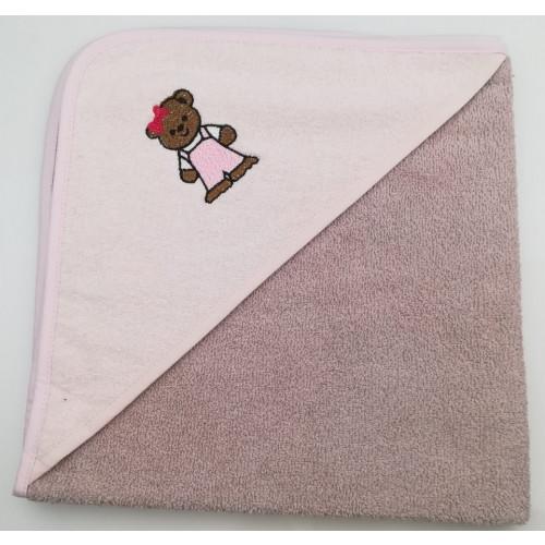 Полотенце-конверт Valtery Медвежонок (коричневый) 70x70