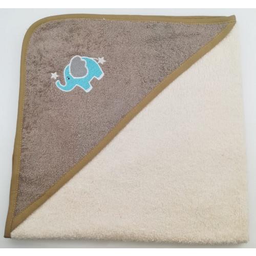 Полотенце-конверт Valtery Слоненок (кремовый) 70x70
