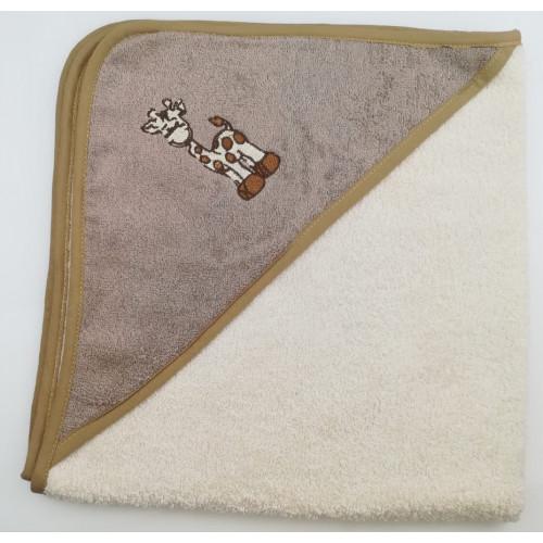 Полотенце-конверт Valtery Жираф (кремовый) 70x70