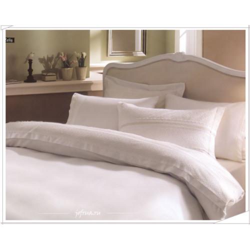 Свадебное постельное белье Zelis (белое) евро