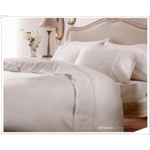 Свадебное постельное белье Bade (белое) евро