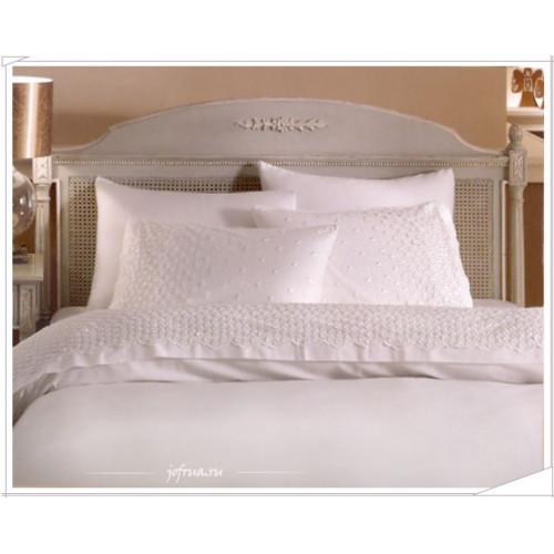 Свадебное постельное белье Gelin Home Damla (белое) евро