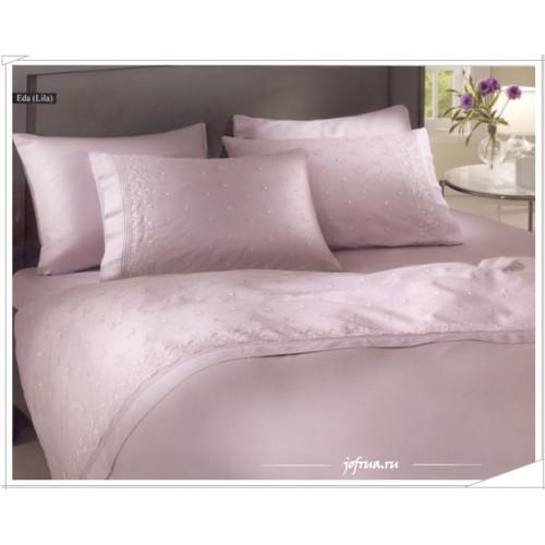 Свадебное постельное белье Gelin Home Eda (лиловое) евро