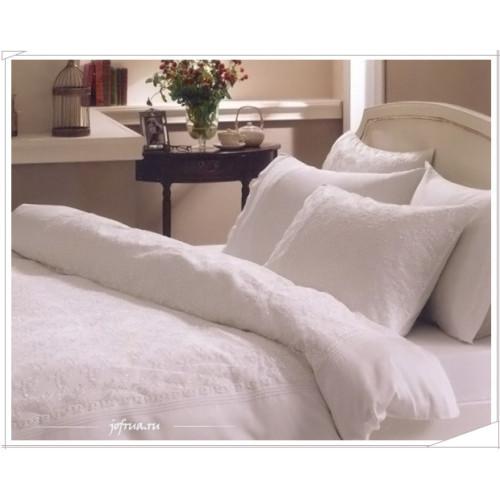 Свадебное постельное белье Sedef (белое) евро