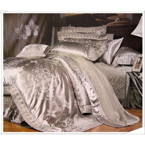 Постельное белье Famille TJ-02 с гипюром 2-спальное