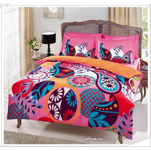 Постельное белье TAC Evas (розовое) 1.5-спальное