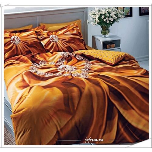 Постельное белье TAC Diana (коричневое)