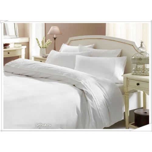 Свадебное постельное белье Gelin Home Papatya (белое) евро