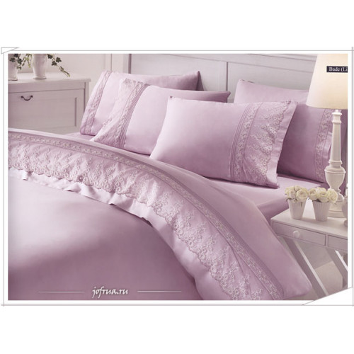 Свадебное постельное белье Gelin Home Bade (лиловое) евро
