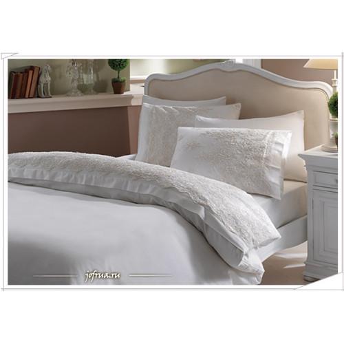 Свадебное постельное белье Gelin Home Diana (белое) евро