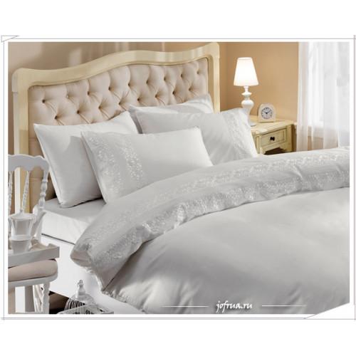 Свадебное постельное белье Gelin Home Biricik (белое) евро
