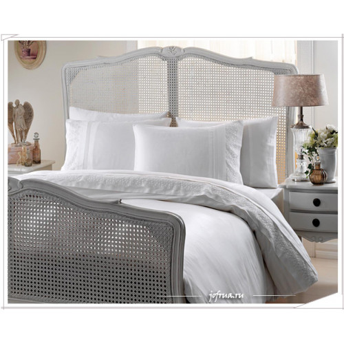 Свадебное постельное белье Gelin Home Berfin (белое) евро