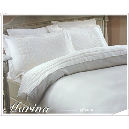 Свадебный набор Gelin Home Marina (белый) евро
