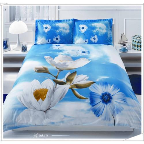 Постельное белье Adalia (голубое)