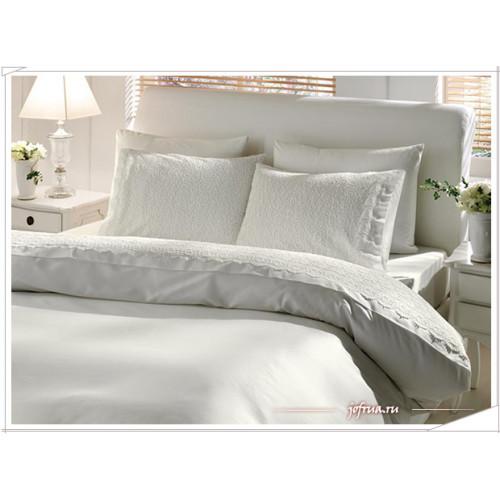 Свадебное постельное белье Gelin Home Sude (белое) евро