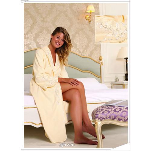 Халат женский Soft Cotton Ruya (желтый)