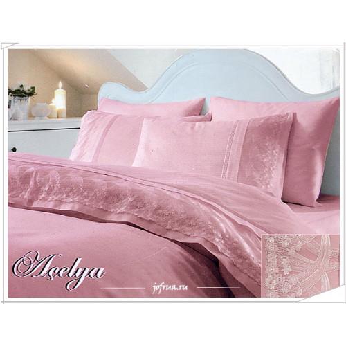 Свадебное постельное белье Acelya (розовое) евро