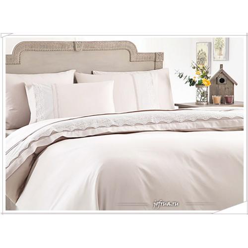 Свадебное постельное белье Gelin Home Beste (кремовое) евро
