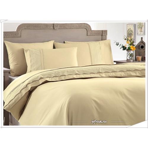 Свадебное постельное белье Gelin Home Beste (бежевое) евро