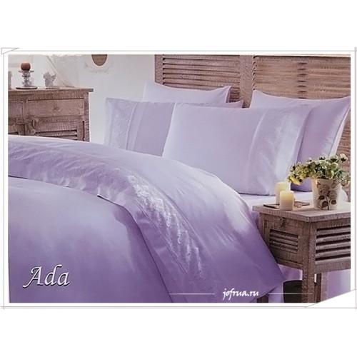 Свадебное постельное белье Gelin Home Ada (лиловое) евро