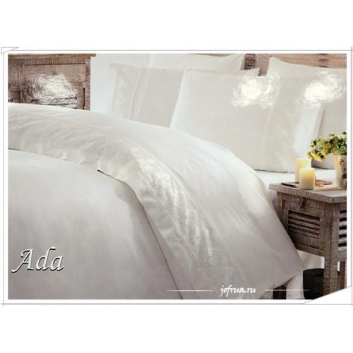 Свадебное постельное белье Gelin Home Ada (белое) евро