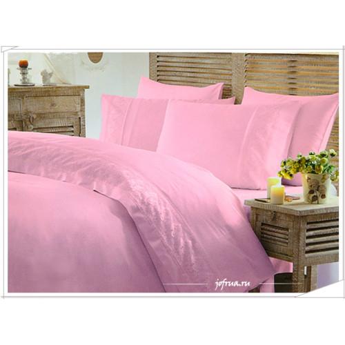 Свадебное постельное белье Gelin Home Ada (розовое) евро