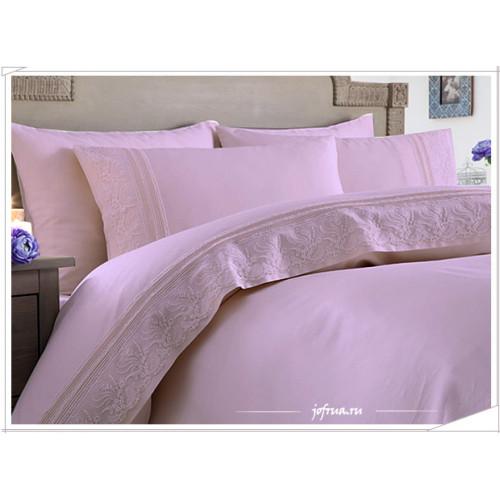 Свадебное постельное белье Gelin Home Melek (лиловое) евро