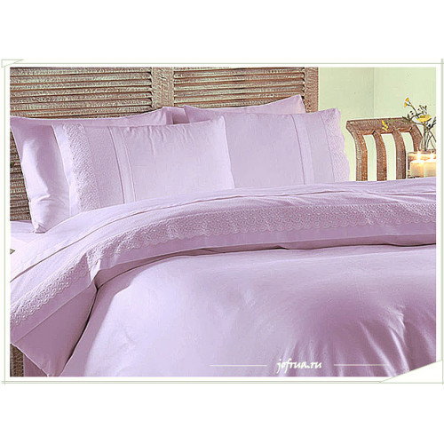 Свадебное постельное белье Merve (лиловое) евро