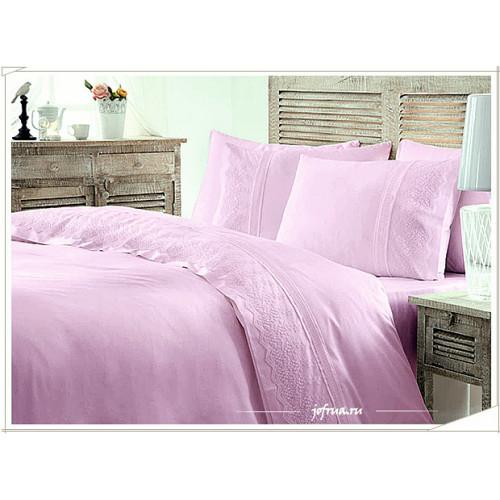 Свадебное постельное белье Gelin Home Bahar (лиловое) евро