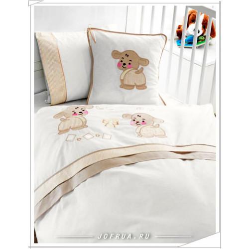 Детское белье в кроватку Gelin Lily & Toby бежевое