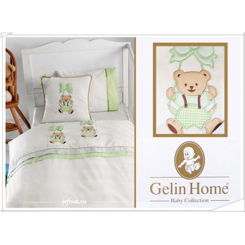 Детское белье в кроватку с медвежатами Gelin Sallanan зеленое