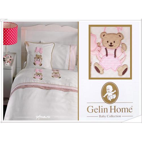 Детское белье в кроватку с медвежатами Gelin Sallanan розовое