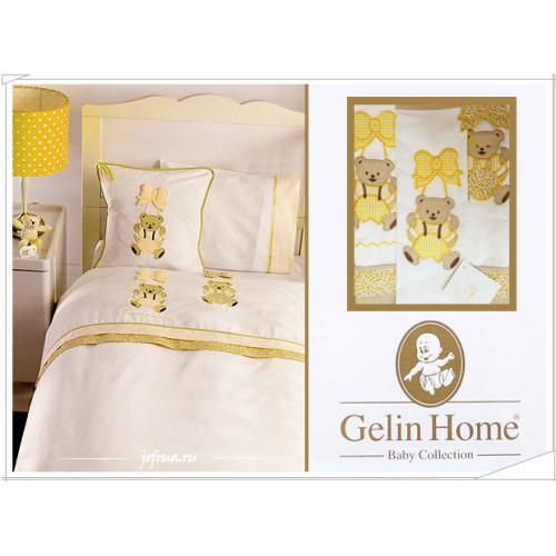 Детское белье в кроватку с медвежатами Gelin Sallanan желтое