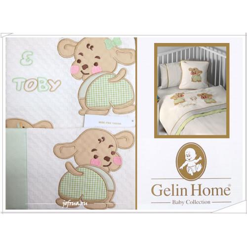 Детский набор с пледом Gelin Lily & Toby (трикотажный) зеленый
