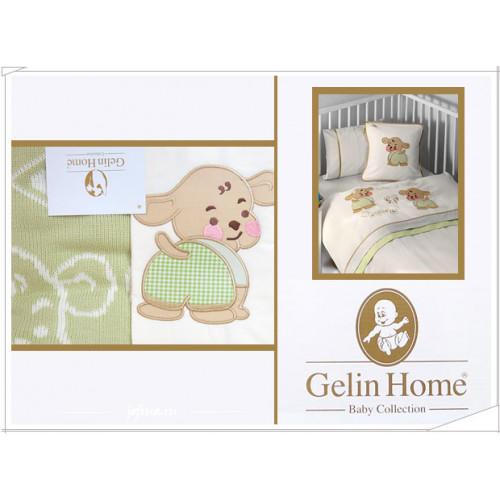Детское белье в кроватку + плед Gelin Lily & Toby зеленый