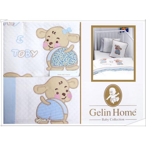 Детский набор с пледом Gelin Lily & Toby (трикотажный) голубой