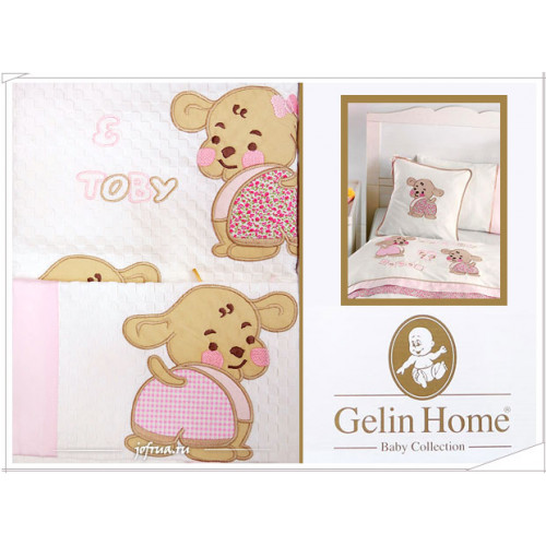Детский набор с пледом Gelin Lily & Toby (трикотажный) розовый