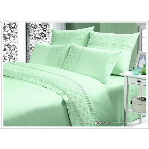 Постельное белье Kingsilk LS-006 (зеленое)