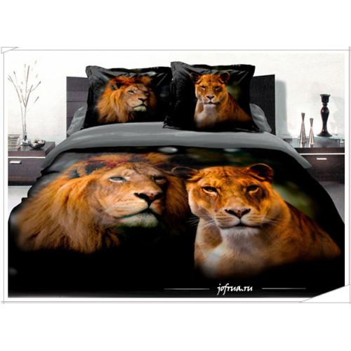 Постельное белье Famille RS-75 Львы - сила и любовь