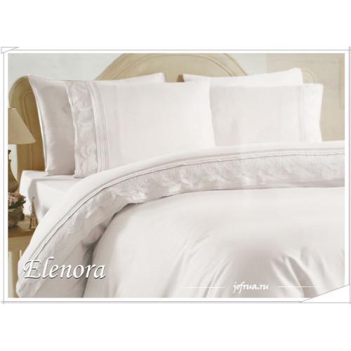 Свадебное постельное белье Elenora (белое) евро