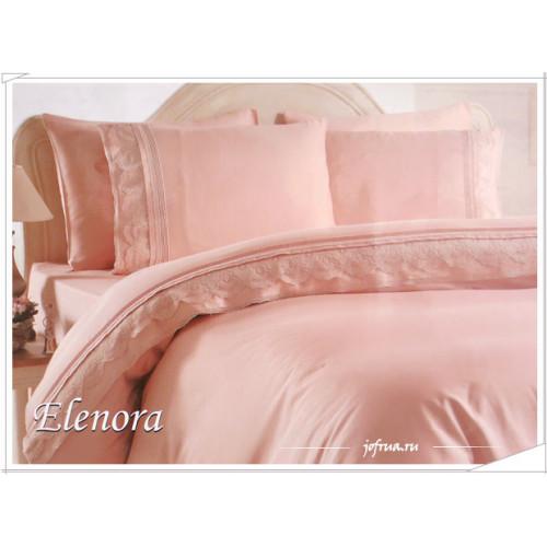 Свадебное постельное белье Elenora (розовое) евро