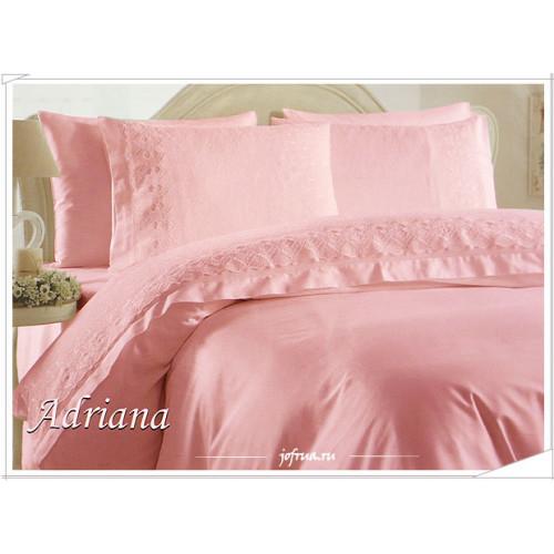 Свадебное постельное белье Gelin Home Adriana (розовое) евро