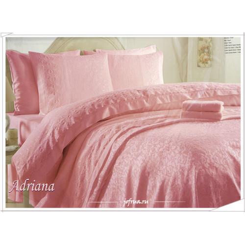 Свадебный набор Gelin Home Adriana (розовый) евро