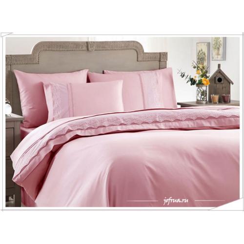 Свадебное постельное белье Gelin Home Beste (розовое) евро