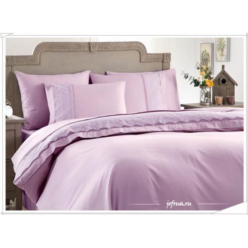 Свадебное постельное белье Gelin Home Beste (лиловое) евро
